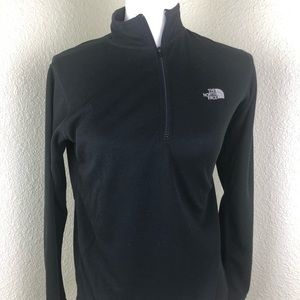 The North Face Black Lightweight Sweater 1/4 Zip